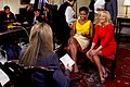 Michelle Obama and Dr. Jill Biden talk to AFPS reporter Elaine Sanchez about 'Joining Forces', 2011.jpg