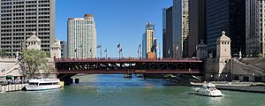 Michigan Avenue Bridge - Michigan Avenue Bridge viewed from the west