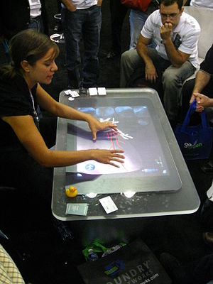 A demo of Microsoft Surface