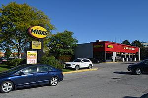 Midas (automotive service) - Image: Midas 4601Highway 7