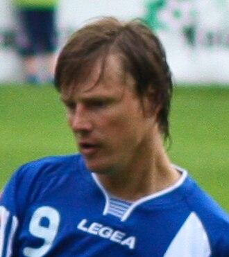 Mihails Miholaps - Miholaps playing for JFK Olimps Rīga