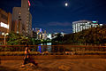 Mikasa River flowing through Fukuoka seen in the moonlight, Japan, East Asia.jpg