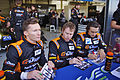 Mike Conway, John Martin and Roman Rusinov Drivers of G-Drive Racing's Oreca 03 Nissan (8669132744).jpg