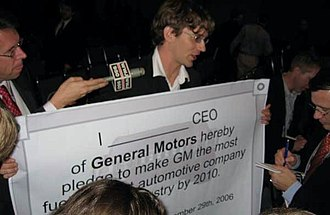Mike Hudema - Hudema at the Los Angeles auto show at which he challenged General Motors CEO Richard Wagoner