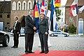 Ministru prezidents Valdis Dombrovskis tiekas ar Vācijas kancleri Angelu Merkeli (7309138336).jpg