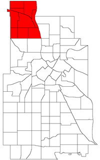 Location of Camden within the U.S. city of Minneapolis