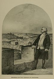 Sketch of Mirabeau on a terrace