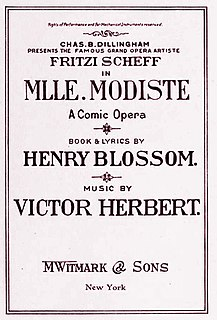 <i>Mlle. Modiste</i> operetta in two acts