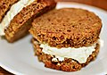 Mmm... Boston brown bread with cream cheese (6280629398).jpg