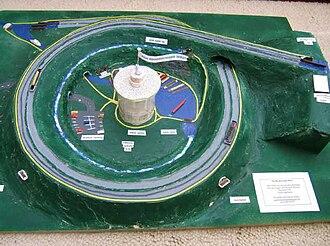 Brogborough - Model of proposed spiral boat lift