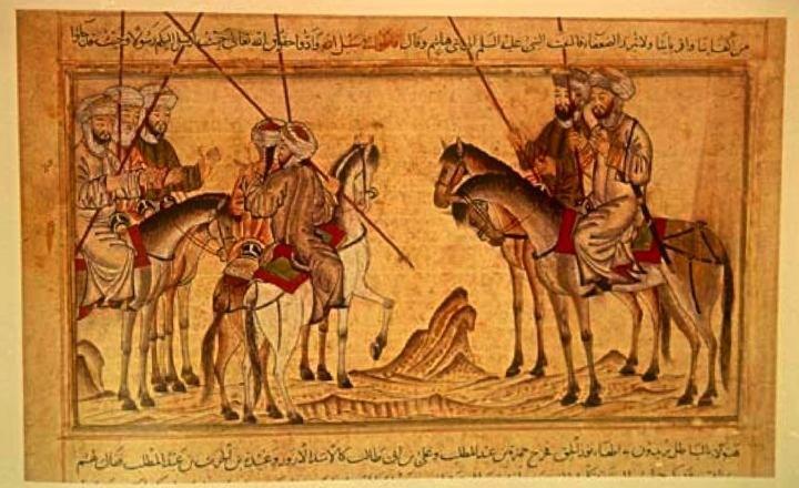 Mohammed before the battle of Badr
