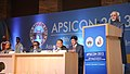 "Mohd. Hamid Ansari addressing at the inauguration of the ""48th Annual Conference of the Association of Plastic Surgeons of India (APSICON)"", in Mumbai. The Governor of Maharashtra, Shri K. Sankaranarayanan is also seen.jpg"