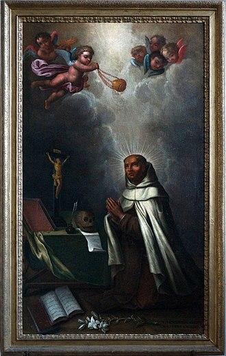 Saintes Cathedral - Image: Moine en prière XVIII 04252