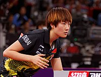 Mondial Ping -Women's Singles - Quarterfinal - Ding Ning-Ri Myong Sun - 17.jpg