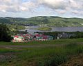 Mont Tremblant resort, above, top of first lift.jpg
