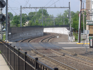 Montclair Connection - The new track built, viewed from Bay Street Station.