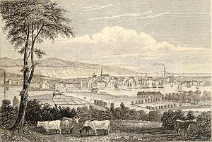 Montrose, Angus - View of city in 1838