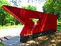 Monument to Soviet soldiers-compatriots in Ploske, Velykyi Burluk Raion by Venzz 03.jpg