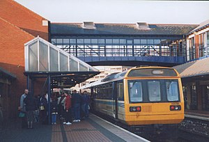 Barnsley Interchange - The station platforms in 1998.
