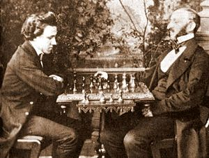 World Chess Championship - Paul Morphy (left) dominated all opposition in his brief chess career (1857–58).