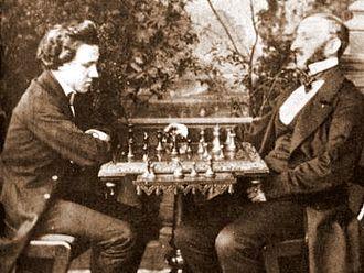 Johann Löwenthal - Morphy vs. Löwenthal, 1858
