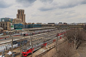 Moscow Paveletskaya railway station - View of the platforms