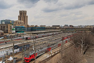 Moscow Paveletsky railway station - View of the platforms