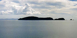 Motukawao Islands and Hauraki Gulf from near Colville