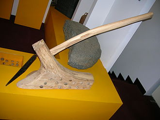 Clearance cairn - A reconstructed mould board plough.