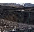 Mount Fuji - Switchbacks and Retaining Walls, May 2004.jpg