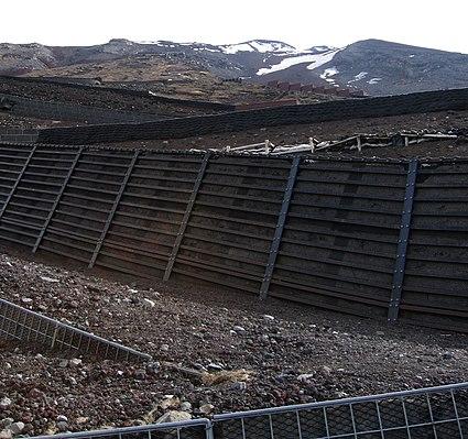 File:Mount Fuji - Switchbacks and Retaining Walls, May 2004.jpg