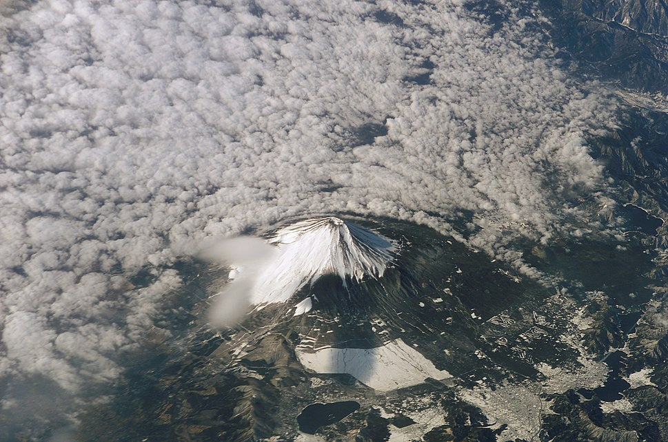 Mount Fuji from space (shuttle mission)