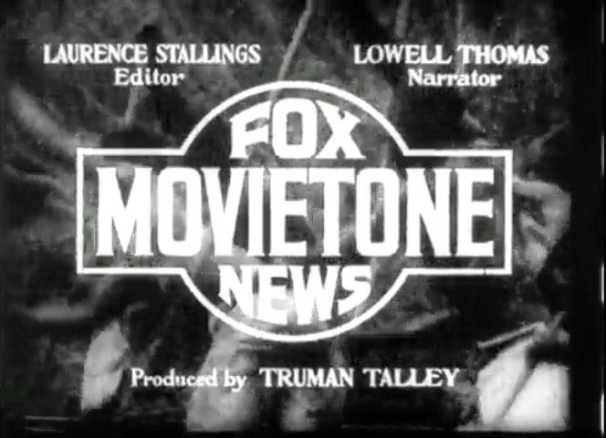 Movietone title card