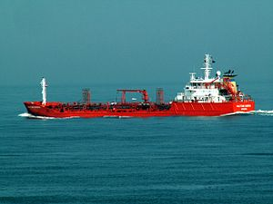 Multitank Badenia leaving Port of Rotterdam, Holland 04-May-2006.jpg