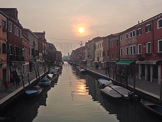 Murano island in the Venitian Lagoon, Italy