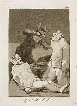 Museo del Prado - Goya - Caprichos - No. 50 - Los Chinchillas