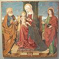 Museo regionale di messina, salvo di antonio, madonna col bambino tra i santi giovanni evangelista e pietro.JPG