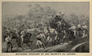 9th Queen's Royal Lancers - Mutineers surprised by the 9th Lancers in 1857