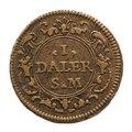 Nödmynt, daler, från 1719 - Skoklosters slott - 109266.tif