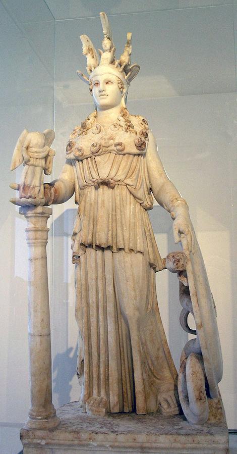 파르테논과 아테나의 원래 모습 로마 모조품