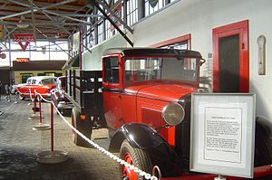 North Carolina Transportation Museum - Antique automobiles.
