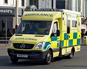 North West Ambulance Service - NWAS ambulance on an emergency call