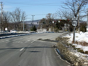 New York State Route 9G - NY 9G's southern terminus at US 9 in Poughkeepsie