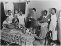 "NYA-Phoenix,Arizona-""colored girls attending WPA household workers training center(serving a tea given for the... - NARA - 195374.tif"
