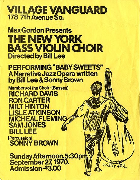 Ad for 1970 performance of the New York Bass Violin Choir, from the Milton J. and Mona C. Hinton Collection, Oberlin Conservatory Library special collections