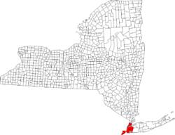 Location in the state of New York