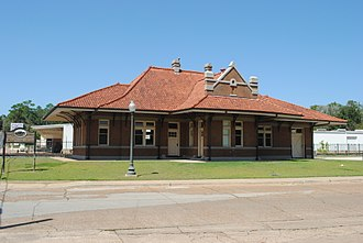 Nacogdoches, Texas - The recently renovated historic Nacogdoches train depot