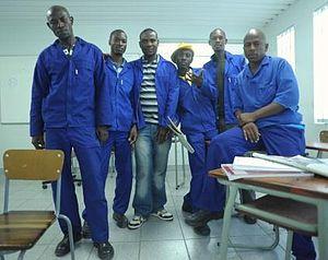 Education in Namibia - Namibian plumbing students