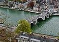 Namur Blick von der Zitadelle auf die Pont des Jambes 7.jpg