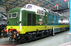Napier Deltic - Napier Deltic powered British Rail Class 55 D9009 Alycidon, at the National Railway Museum, York, UK
